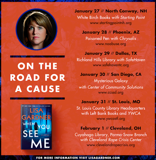 On The Road for a Cause – Author Lisa Gardner