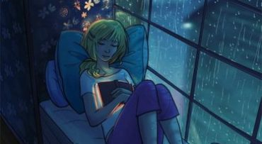 A Rainy day is a good day to read a book!